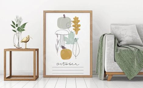 Plakat symbole jesieni