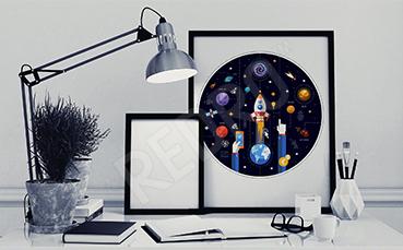 Plakat symbole kosmosu