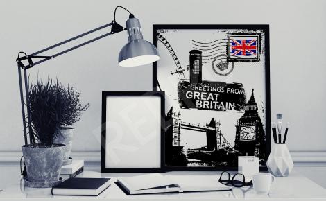 Plakat symbole Londynu
