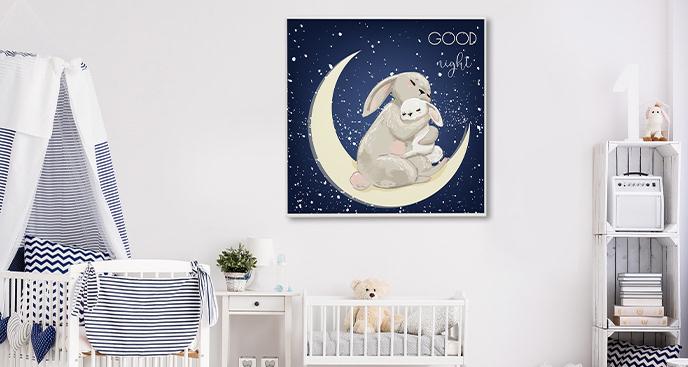 Plakat symbolizujący miłość mamy i dziecka
