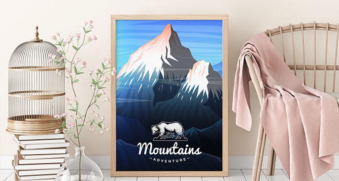 Plakat górska przyroda