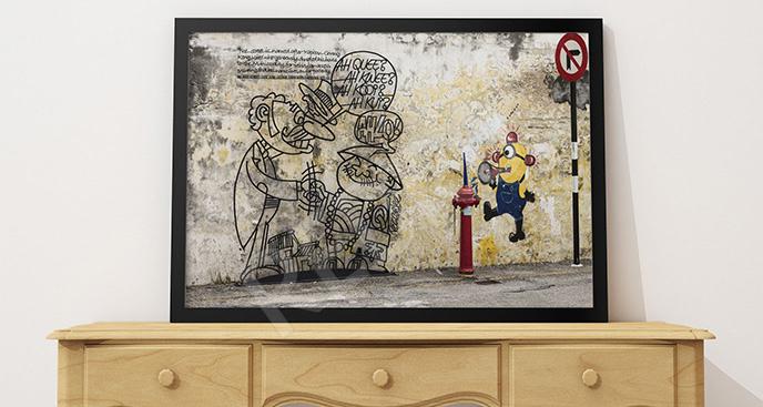 Plakat sztuka ulicy