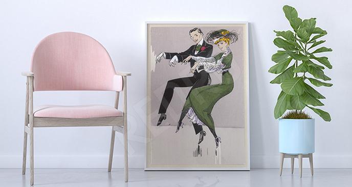 Plakat tańcząca para