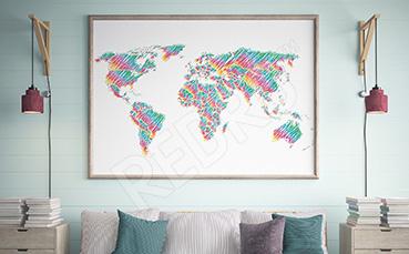Plakat tęczowa mapa