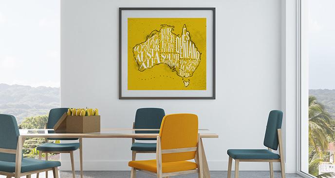 Plakat terytorium Australii