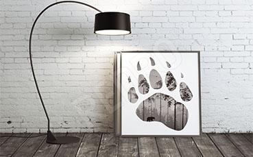 Plakat trop niedźwiedzia