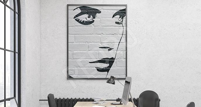 Plakat twarz kobiety