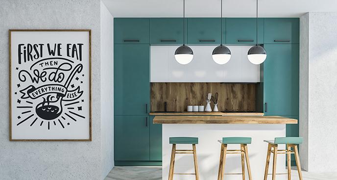 Plakat typografia do kuchni