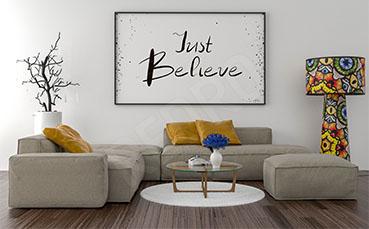 Plakat typografia do salonu
