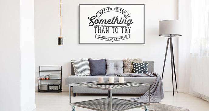Plakat typografia motywacyjna