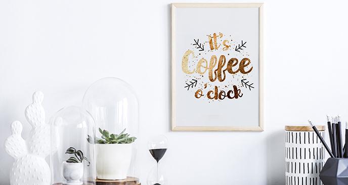 Plakat typograficzny dla kawoszy
