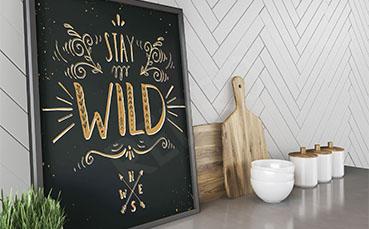 Plakat typograficzny do kuchni