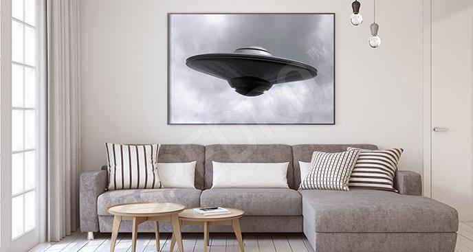 Plakat UFO 3D