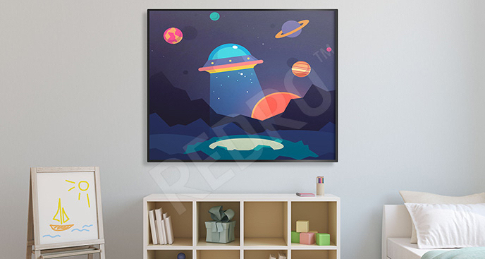 Plakat UFO do pokoju dziecka