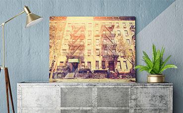 Plakat vintage architektura