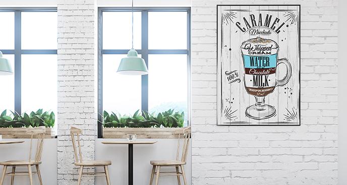 Plakat vintage do kawiarni
