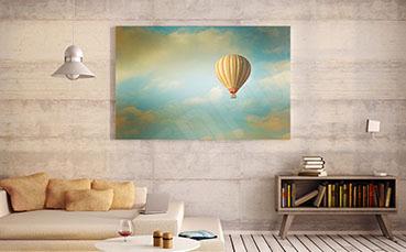 Plakat vintage latający balon
