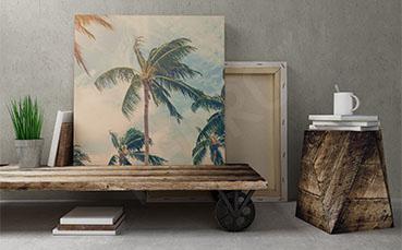 Plakat vintage palmy