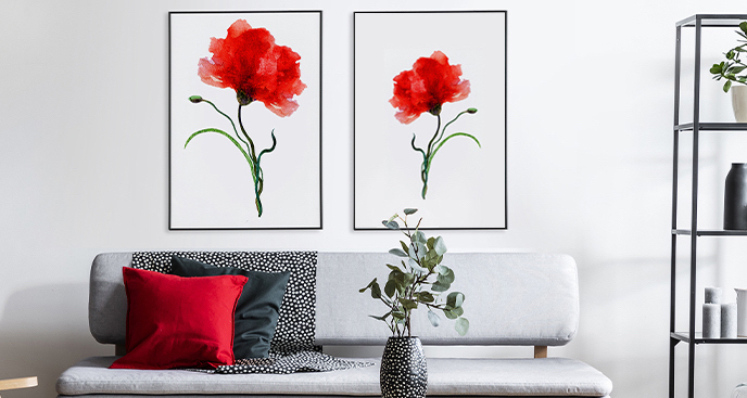 Plakat w stylu floral