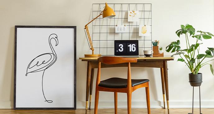 Plakat w stylu minimalistycznym