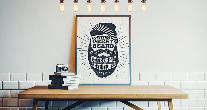 Plakat w stylu scandi dla hipstera