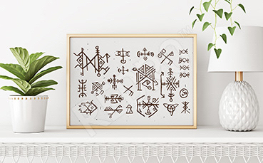 Plakat w stylu skandynawskim: symbole