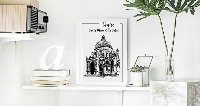 Plakat Wenecja: bazylika