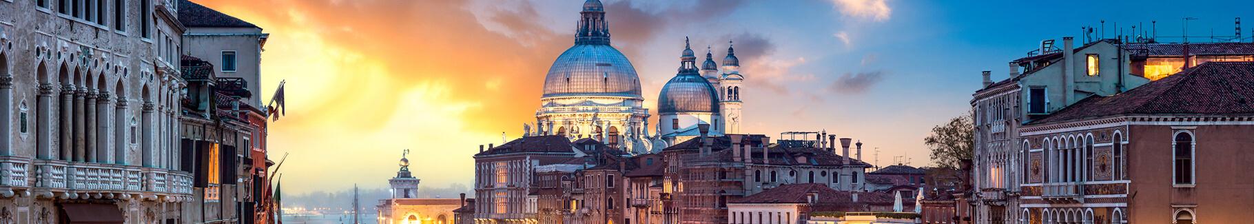Plakat Wenecja o zachodzie słońca