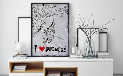 Plakat Wenecja szkic