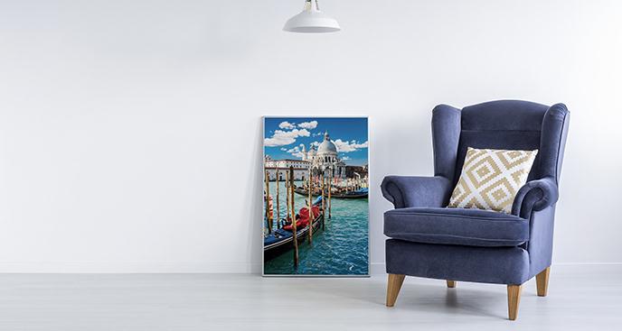 Plakat Wenecja z widokiem na kanał