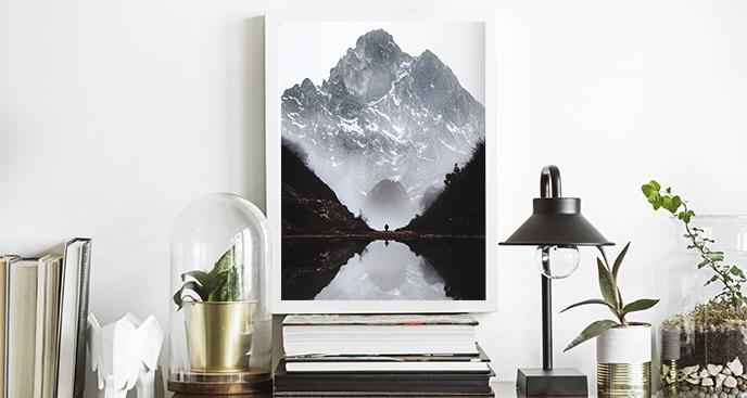 Plakat szczyty gór