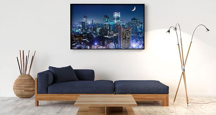 Plakat widok na Tokio