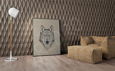 Plakat wilk styl minimalistyczny