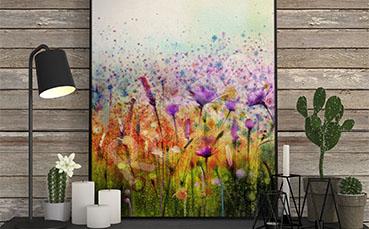 Plakat wiosenne kwiaty