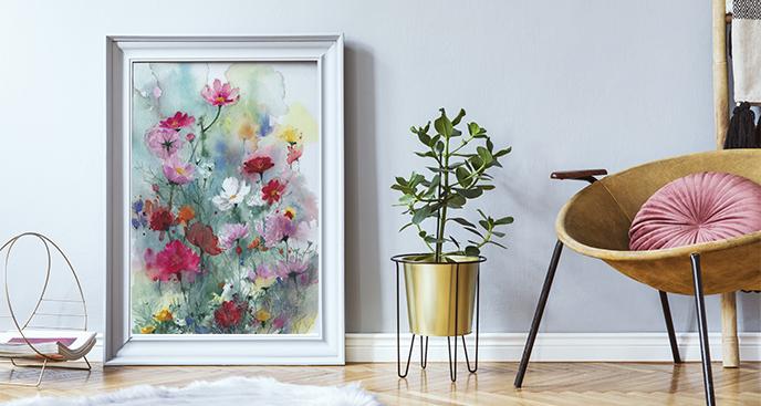 Plakat wiosenne rośliny