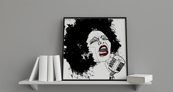 Plakat wokalistka jazzowa