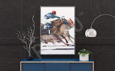 Plakat wyścigi konne