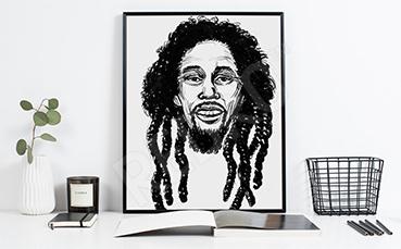 Plakat z Bobem Marleyem