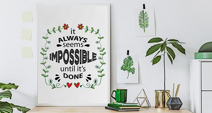Plakat z inspirującym cytatem