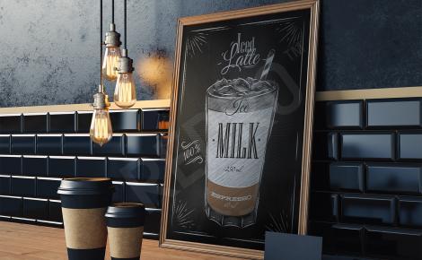 Plakat z kawą rysunek