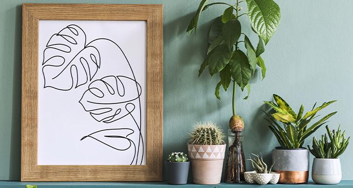 Plakat minimalizm z Wieżą Eiflla