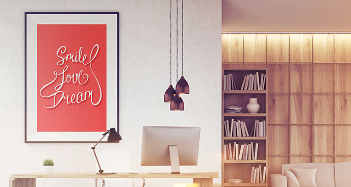 Plakat z maksymą do biura