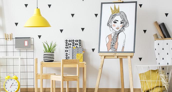 Plakat z portretem księżniczki