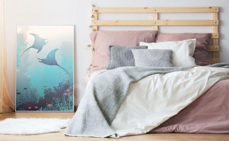 Plakat z rafą koralową do sypialni