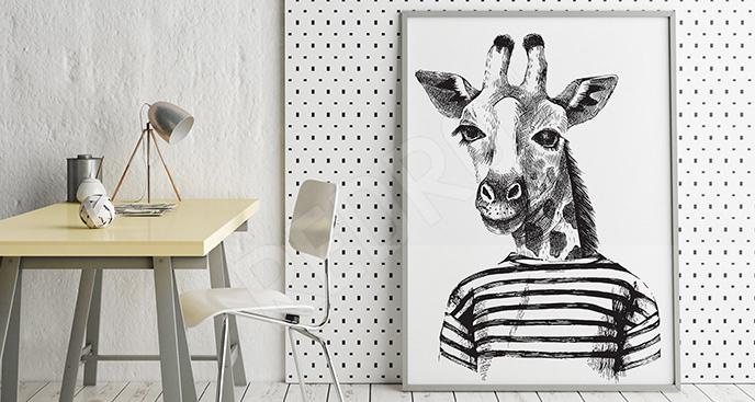 Plakat z żyrafą dla nastolatka