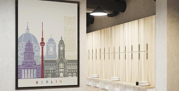 Plakat zabytki Berlina