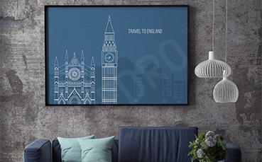 Plakat zabytki Londynu