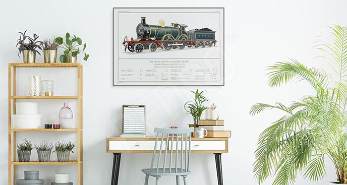 Plakat zabytkowa lokomotywa