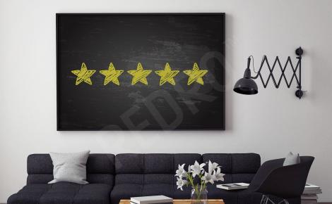 Plakat złote gwiazdki do salonu