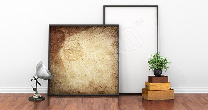 Plakat złoty kompas